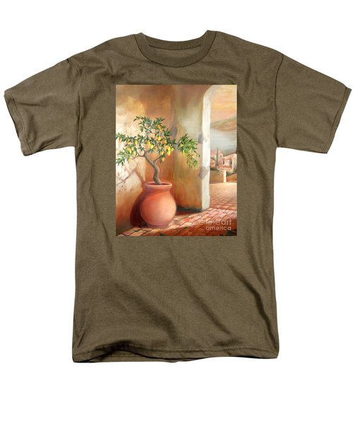 Men's T-Shirt  (Regular Fit) featuring the painting Tuscan Lemon Tree by Michael Rock