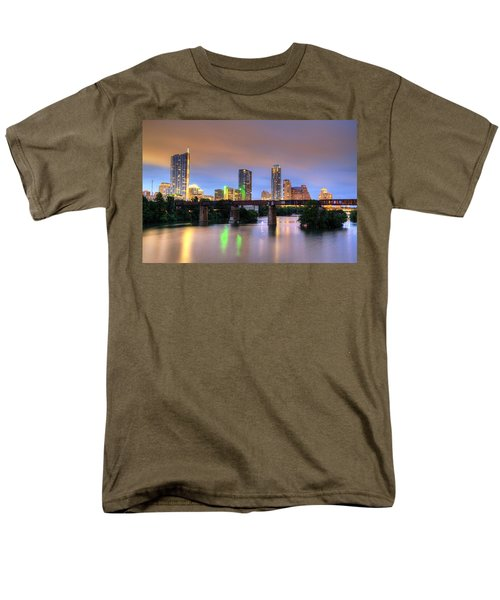 Twilight On The Lake Men's T-Shirt  (Regular Fit) by Dave Files