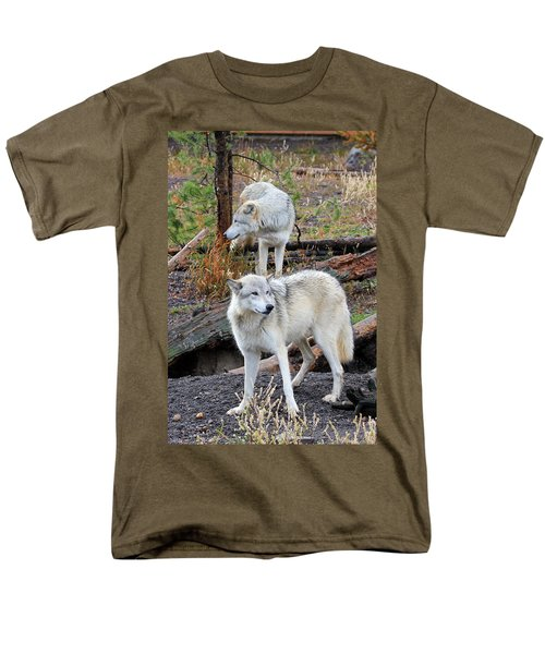 Men's T-Shirt  (Regular Fit) featuring the photograph Twin Wolves by Athena Mckinzie