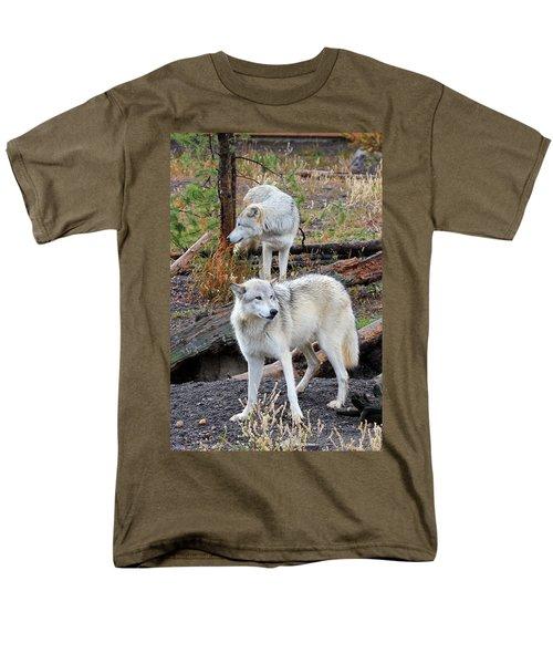 Twin Wolves Men's T-Shirt  (Regular Fit) by Athena Mckinzie