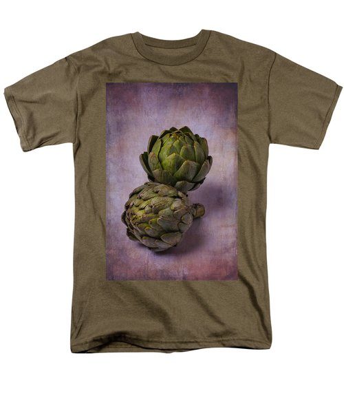 Two Artichokes Men's T-Shirt  (Regular Fit) by Garry Gay