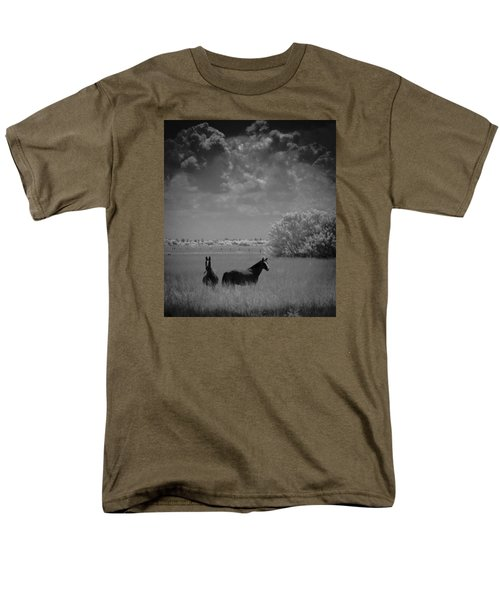 Two Horses Men's T-Shirt  (Regular Fit) by Bradley R Youngberg