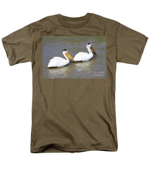 Men's T-Shirt  (Regular Fit) featuring the photograph Two Pelicans by Alyce Taylor