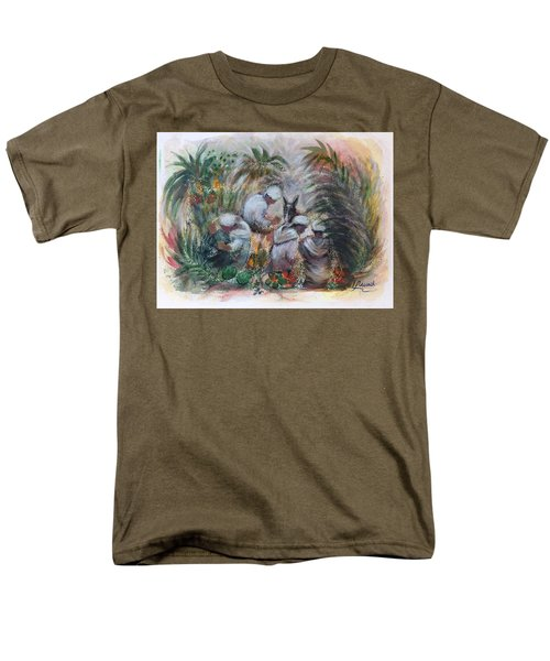 Under The Palm Trees At The Oasis Men's T-Shirt  (Regular Fit) by Laila Awad Jamaleldin