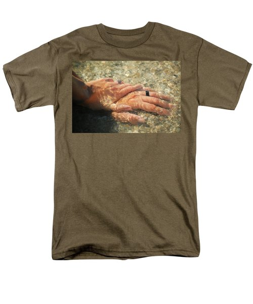 Men's T-Shirt  (Regular Fit) featuring the photograph Underwater Hands by Leticia Latocki