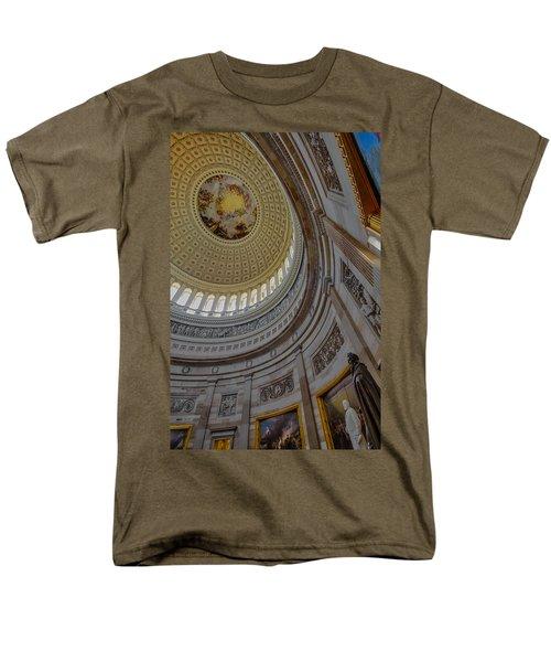 Unites States Capitol Rotunda Men's T-Shirt  (Regular Fit) by Susan Candelario