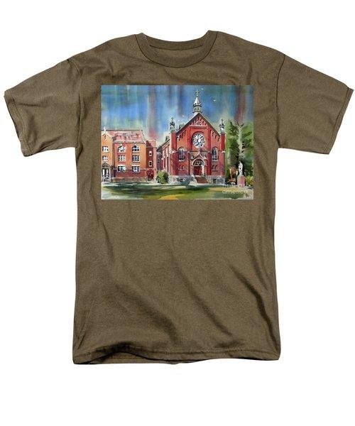 Ursuline Academy With Doves Men's T-Shirt  (Regular Fit) by Kip DeVore