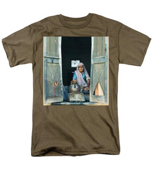 Varanasi Water Seller Men's T-Shirt  (Regular Fit) by Shaun Higson
