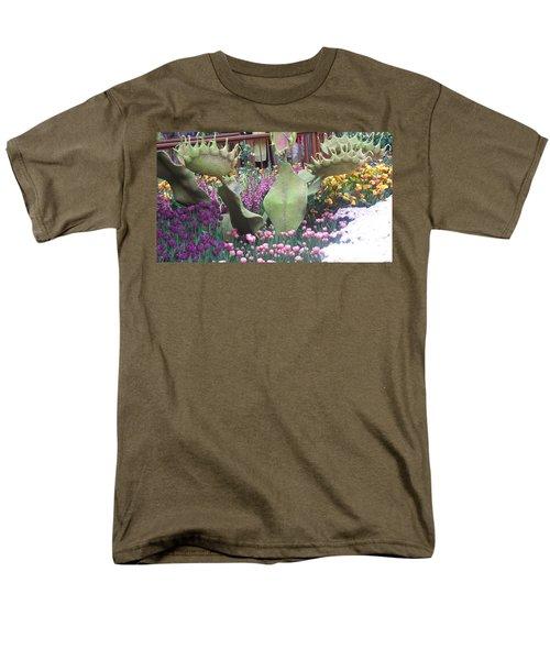 Vegas Butterfly Garden Flowers Cactus Romanti Interior Decorations Men's T-Shirt  (Regular Fit) by Navin Joshi