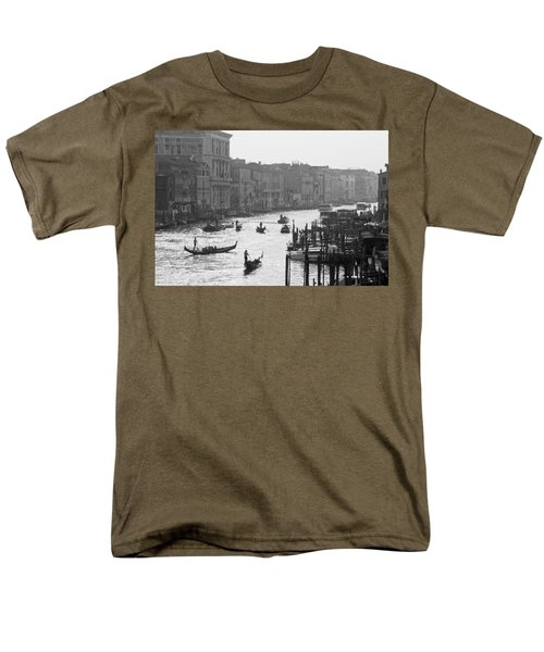 Venice Grand Canal Men's T-Shirt  (Regular Fit) by Silvia Bruno