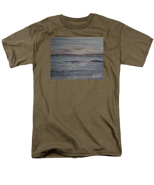 Men's T-Shirt  (Regular Fit) featuring the painting Ventura Pier High Surf by Ian Donley