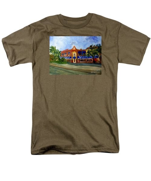 Vic And Angelos In Downtown Delray Beach Men's T-Shirt  (Regular Fit) by Donna Walsh