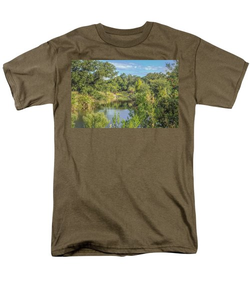 View Down The Creek Men's T-Shirt  (Regular Fit) by Jane Luxton