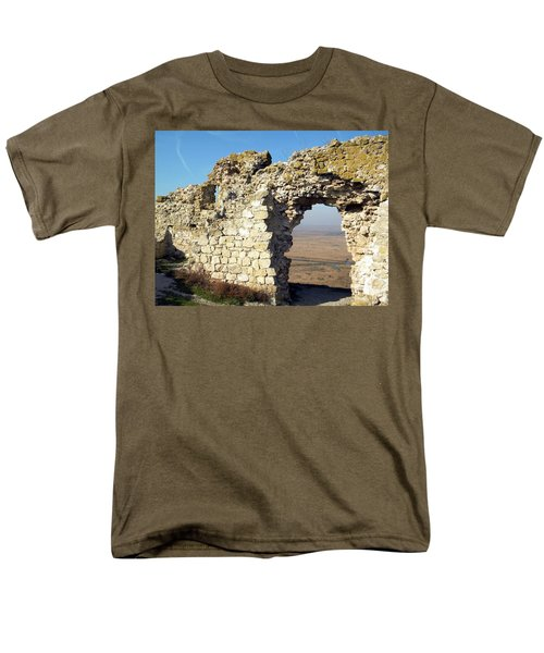 Men's T-Shirt  (Regular Fit) featuring the photograph View From Enisala Fortress 2 by Manuela Constantin