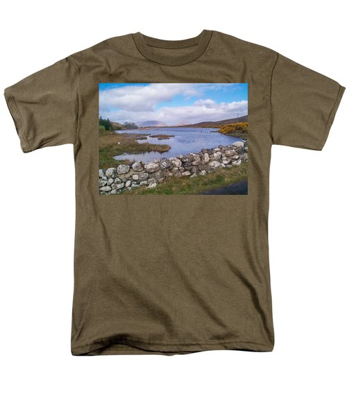 Men's T-Shirt  (Regular Fit) featuring the photograph View From Quiet Man Bridge Oughterard Ireland by Charles Kraus
