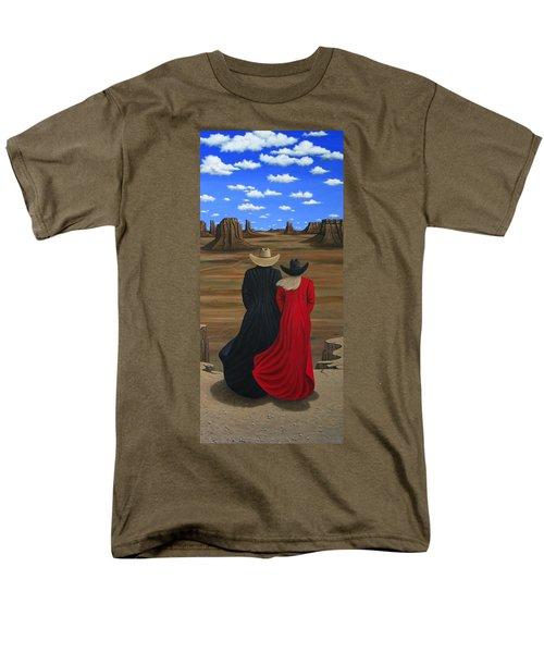 View West Men's T-Shirt  (Regular Fit) by Lance Headlee
