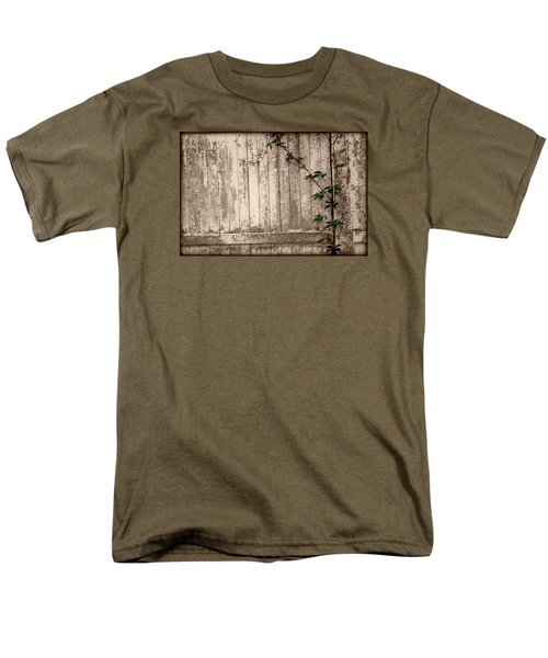 Men's T-Shirt  (Regular Fit) featuring the photograph Vine And Fence by Amanda Vouglas
