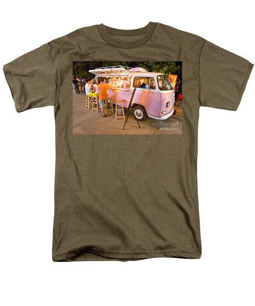 Vintage Pink Volkswagen Bus Men's T-Shirt  (Regular Fit) by Luciano Mortula