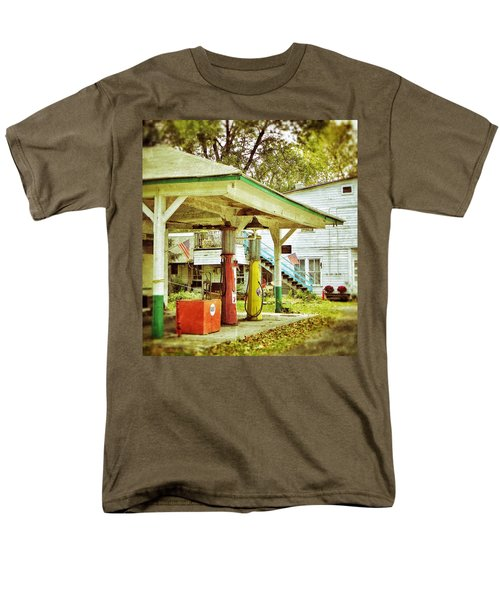 Men's T-Shirt  (Regular Fit) featuring the photograph Visible Gas Pumps by Jean Goodwin Brooks