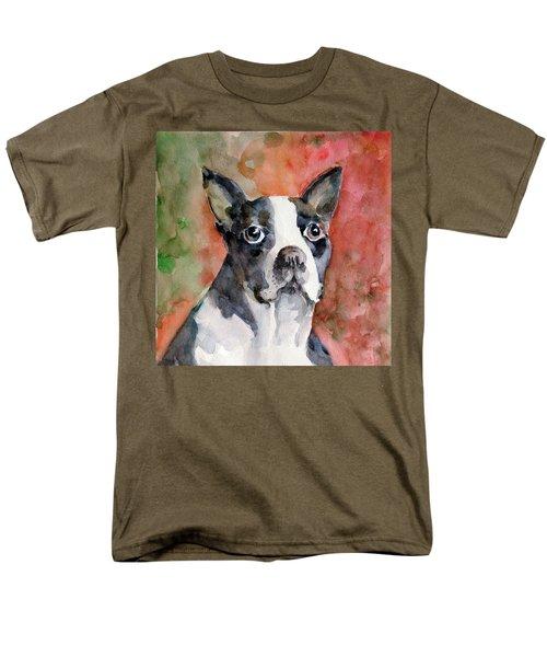 Men's T-Shirt  (Regular Fit) featuring the painting Vodka - French Bulldog by Faruk Koksal