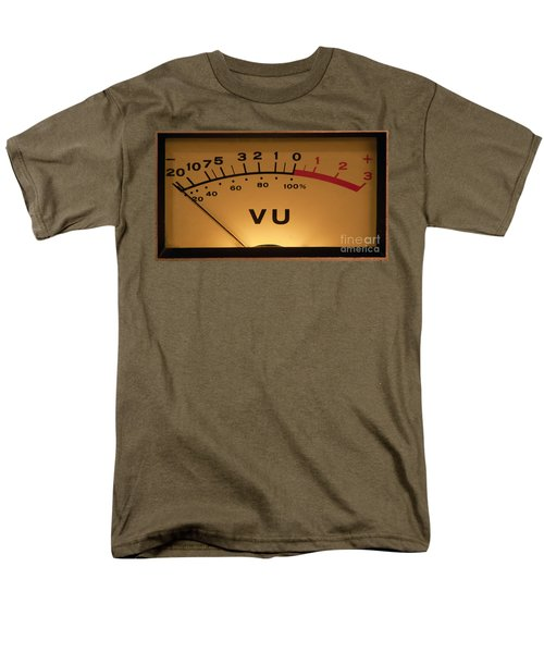 Men's T-Shirt  (Regular Fit) featuring the photograph Vu Meter Illuminated by Gunter Nezhoda
