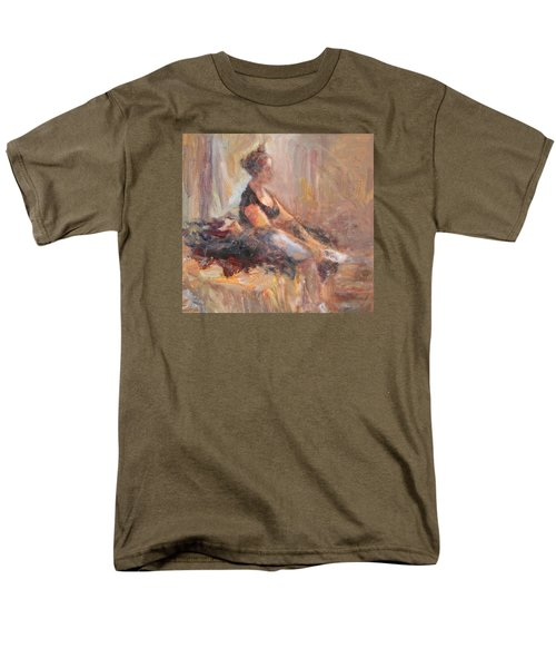 Waiting For Her Moment - Impressionist Oil Painting Men's T-Shirt  (Regular Fit) by Quin Sweetman