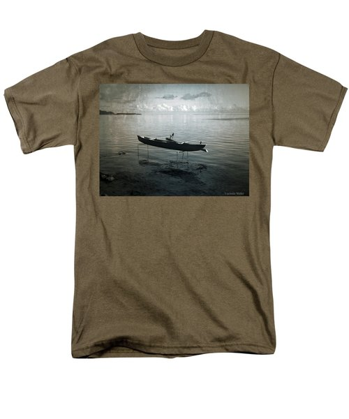 Men's T-Shirt  (Regular Fit) featuring the photograph Waiting In Blue by Lucinda Walter