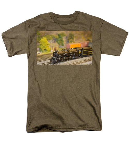 Men's T-Shirt  (Regular Fit) featuring the photograph Waiting Model Train  by Patrice Zinck
