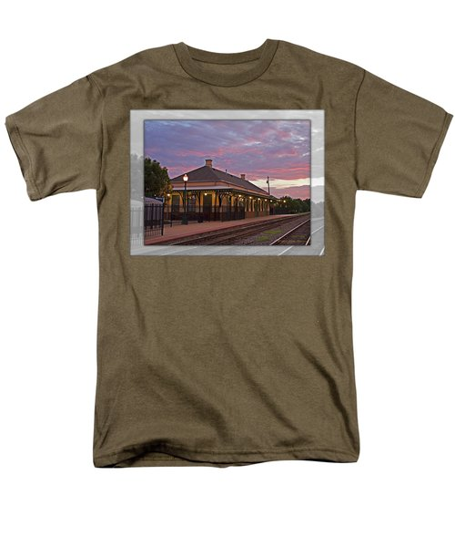 Waiting On The Train Men's T-Shirt  (Regular Fit) by Walter Herrit