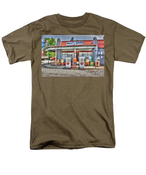 Wally's Service Station Men's T-Shirt  (Regular Fit) by Dan Stone