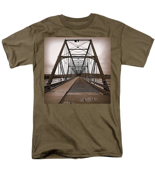Walnut Street Bridge Men's T-Shirt  (Regular Fit) by Joseph Skompski