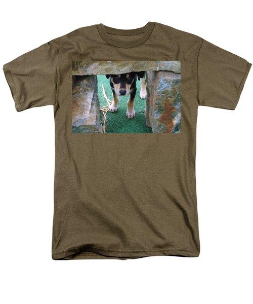 Wannabe Sled Dog In The Yukon Men's T-Shirt  (Regular Fit) by Richard Rosenshein