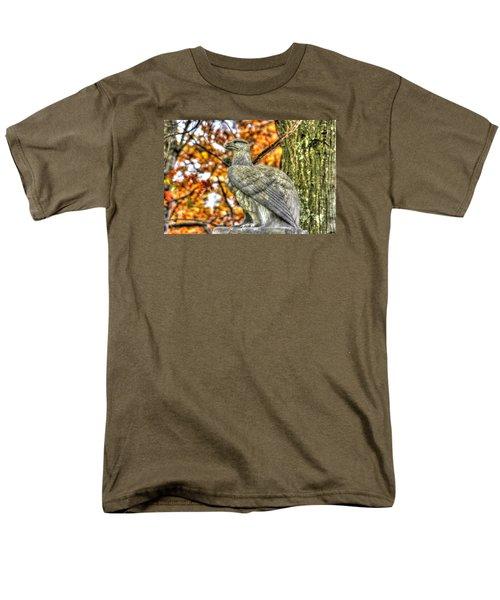 Men's T-Shirt  (Regular Fit) featuring the photograph War Eagles - 28th Massachusetts Volunteer Infantry Rose Woods The Wheatfield Fall-a Gettysburg by Michael Mazaika
