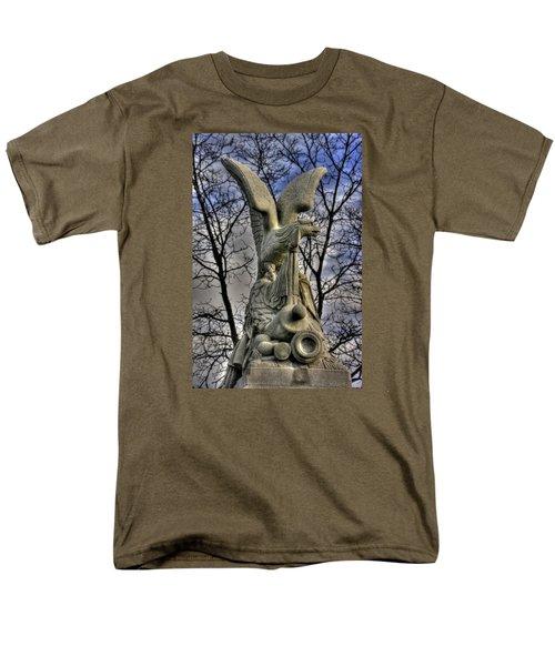 Men's T-Shirt  (Regular Fit) featuring the photograph War Eagles - 88th Pa Volunteer Infantry Cameron Light Guard-c1 Oak Hill Autumn Gettysburg by Michael Mazaika