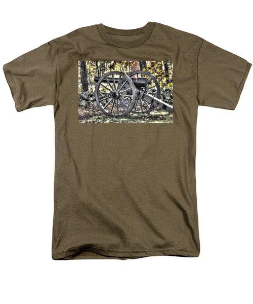 Men's T-Shirt  (Regular Fit) featuring the photograph War Thunder - The Albemarle Va Artillery Wyatt's Battery-b1 West Confederate Ave Gettysburg by Michael Mazaika