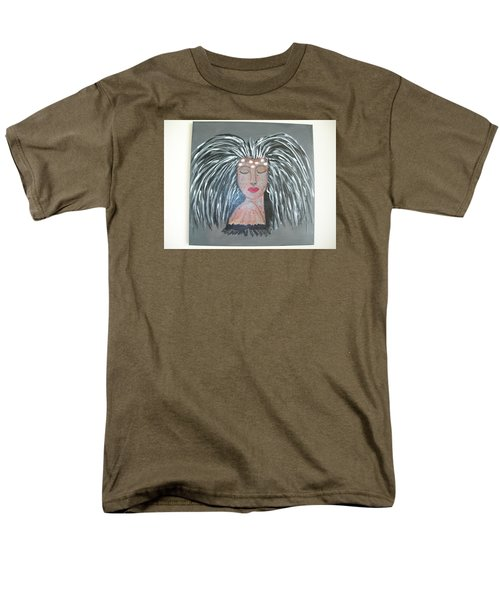 Men's T-Shirt  (Regular Fit) featuring the painting Warrior Woman #2 by Sharyn Winters