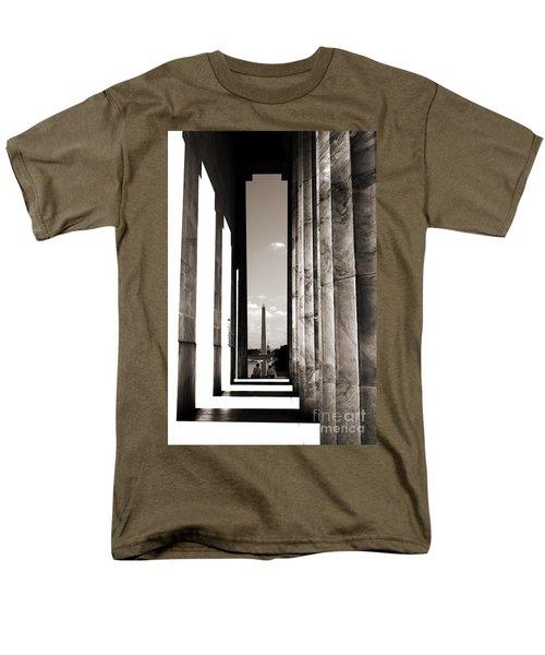 Men's T-Shirt  (Regular Fit) featuring the photograph Washington Monument by Angela DeFrias