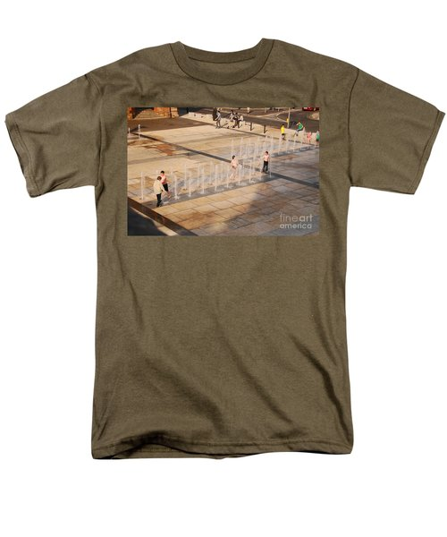 Men's T-Shirt  (Regular Fit) featuring the photograph Water Fun by Mary Carol Story