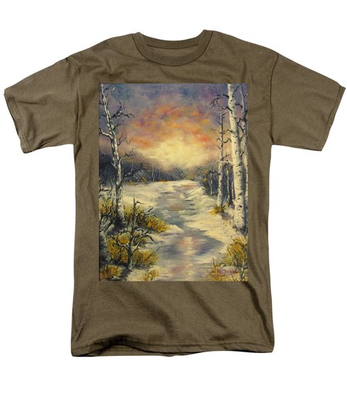 Men's T-Shirt  (Regular Fit) featuring the painting Water Music  by Megan Walsh