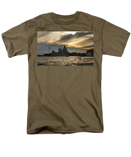 Men's T-Shirt  (Regular Fit) featuring the photograph Watercolor Sky Over Venice Italy by Georgia Mizuleva