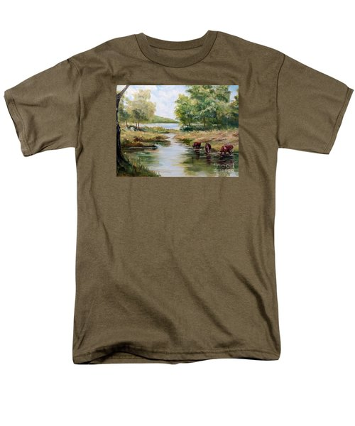 Men's T-Shirt  (Regular Fit) featuring the painting Waterloo by Lee Piper