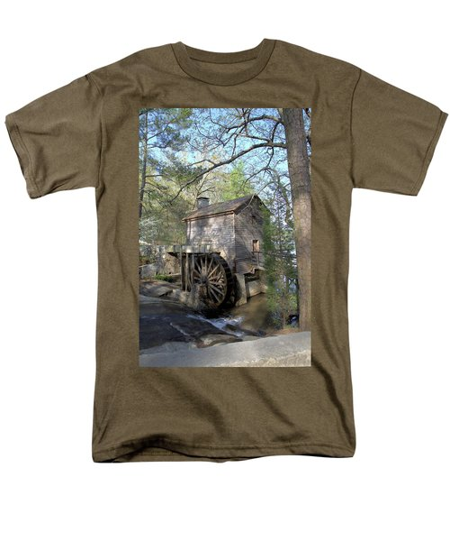Men's T-Shirt  (Regular Fit) featuring the photograph Waterwheel At Stone Mountain by Gordon Elwell