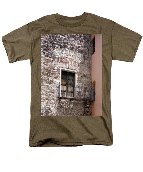 Weathered Wooden Church Doors Men's T-Shirt  (Regular Fit) by Lynn Palmer