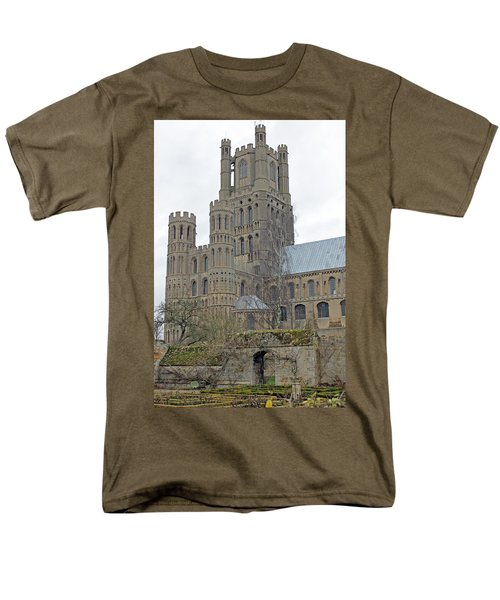 West Tower Of Ely Cathedral  Men's T-Shirt  (Regular Fit) by Tony Murtagh