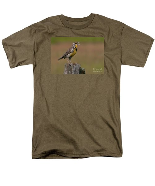 Western Meadowlark.. Men's T-Shirt  (Regular Fit) by Nina Stavlund