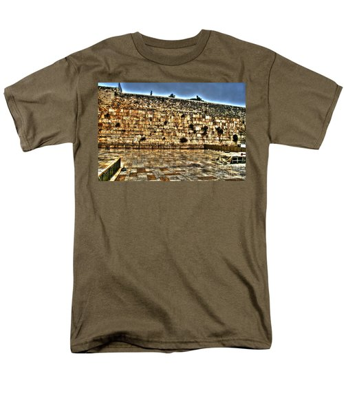 Men's T-Shirt  (Regular Fit) featuring the photograph Western Wall In Israel by Doc Braham
