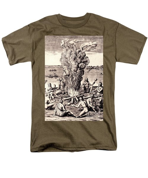 When They Returned From The War They Make Merry About The Fire Men's T-Shirt  (Regular Fit) by Peter Gumaer Ogden
