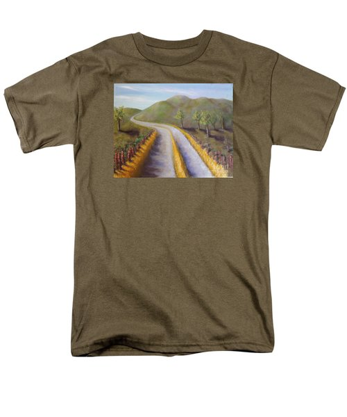 Autumn Road Men's T-Shirt  (Regular Fit) by Laurie Morgan