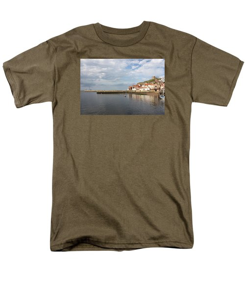 Men's T-Shirt  (Regular Fit) featuring the photograph Whitby Abbey N.e Yorkshire by Jean Walker