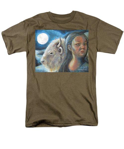 White Buffalo Portrait Men's T-Shirt  (Regular Fit) by Samantha Geernaert